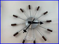 Wonderful George Nelson Wall Clock Mid Century Modern Vintage Retro Starburst