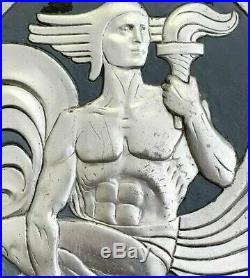 Zeus with Iconic Lightening Bolt Art Deco Machine Age True Canvas Print